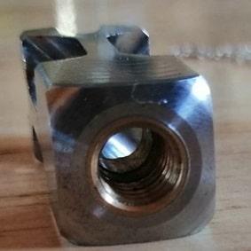 Pendule artisanal métal bi-masse inox et laiton création unique