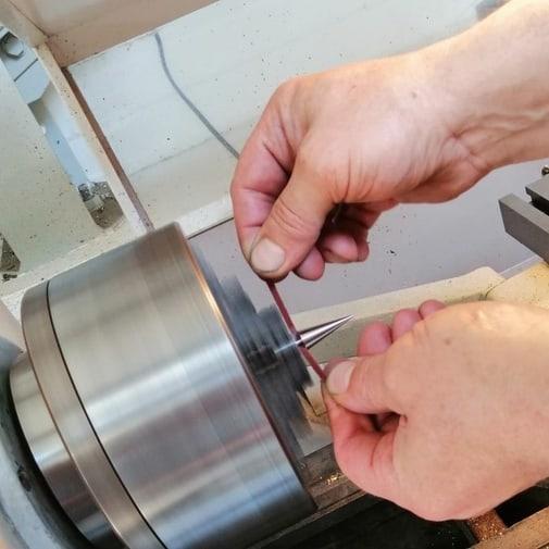 création pendule radiesthésie artisanal fait main création unique 100% inox métal