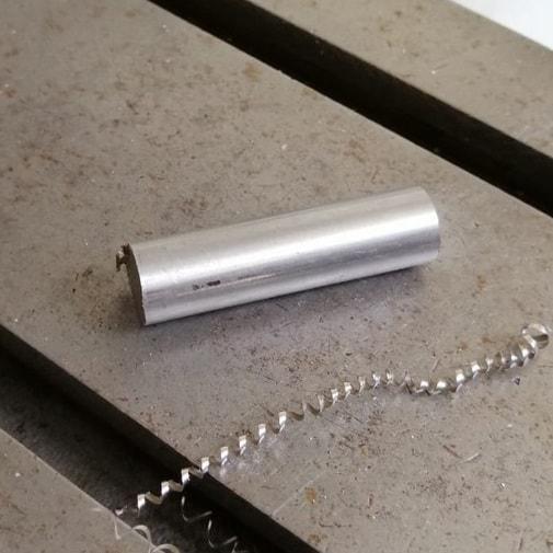 Réalisation d'un pendule de radiesthésie 100% inox - Morceau d'inox brut