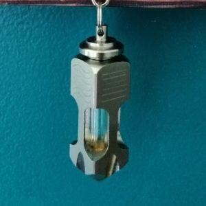 Pendules de radiesthésie métal bi-masse en inox et laiton, à capsule,